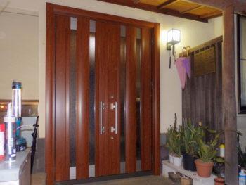 相模原市中央区 M様邸 引き戸から玄関ドアへのリフォーム