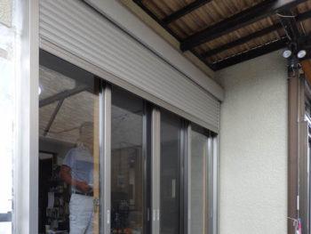 壁カット工法 電動シャッター